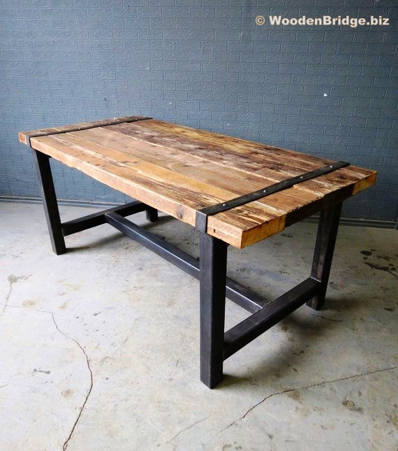 Reclaimed Wood Dining Table Ideas - 570 x 645