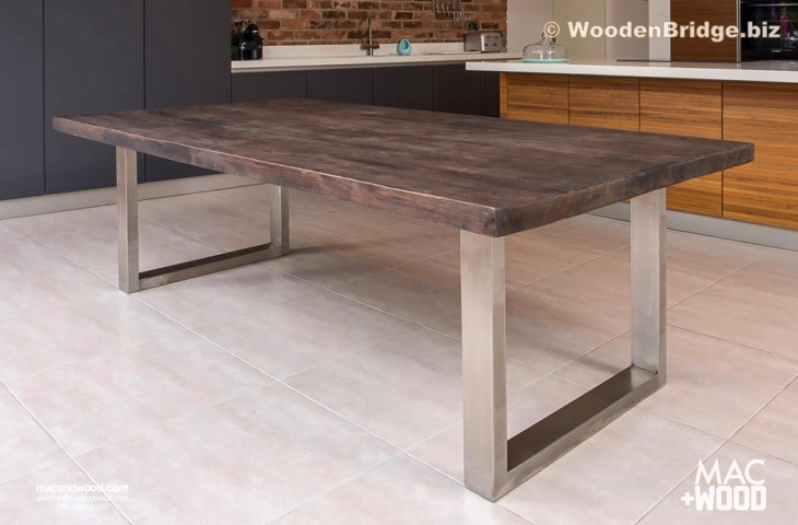 Reclaimed Wood Dining Table Ideas - 730 x 480