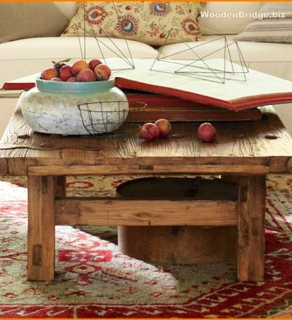 Reclaimed Wood Coffee Tables Ideas - 420 x 460