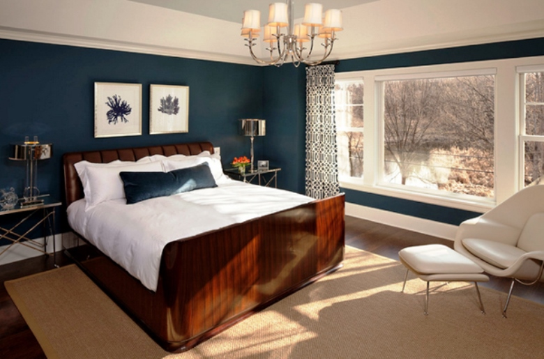 chocolate brown and red bedroom ideas